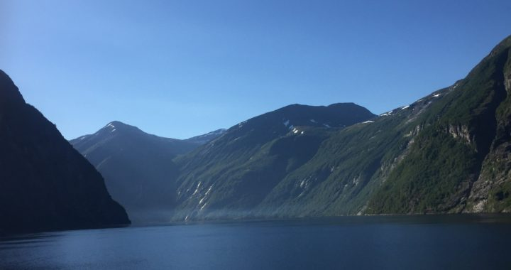 Travelling through the Fjords of Norway